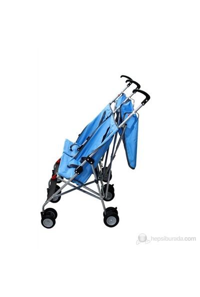 Aldeba 3030 İkiz Bebek Arabası - Mavi