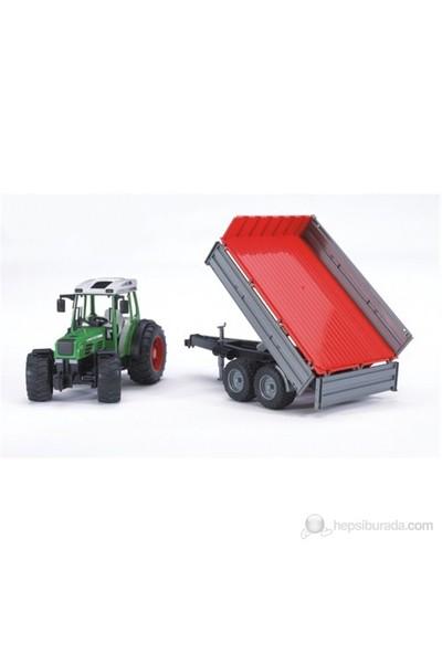 Bruder Fendt 209 S Traktör & Kırmızı Römork BR02104