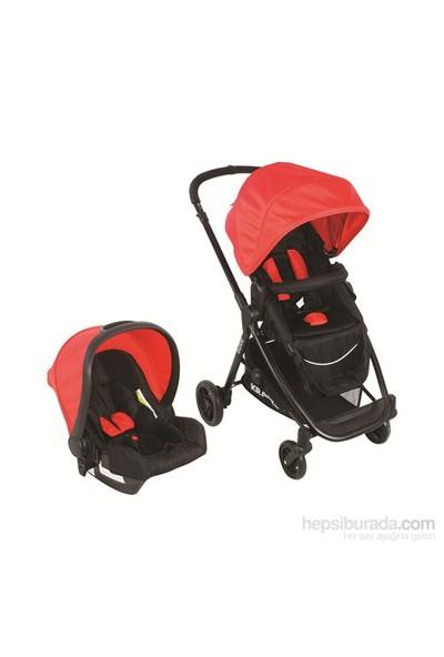 Kraft Bukle Travel Bebek Arabası - Kırmızı