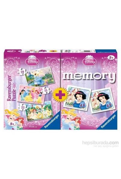 Ravensburger My Disney Favourite-Prensesler - 15,20,25 parçalı puzzle+mini memory