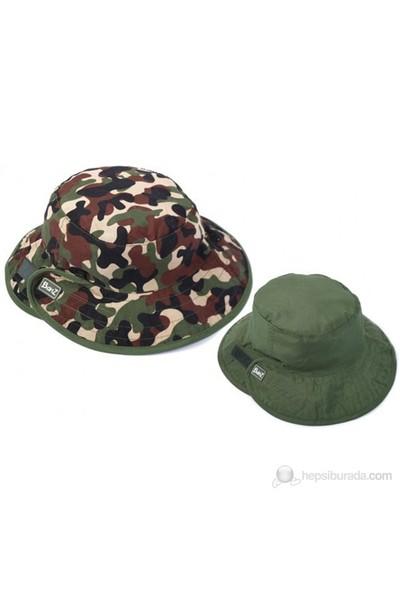Kidz Banz Yeşil Kamo Çift Taraflı Şapka Unisex