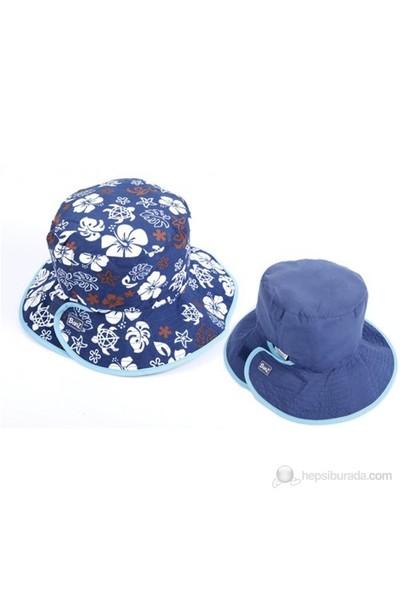 Kidz Banz Lacivert/Kahve Çift Taraflı Şapka Unisex