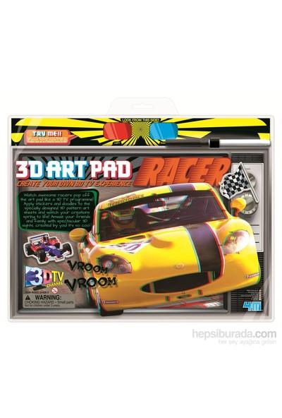 4M 3D Poster-Boyama Yarış Arabası