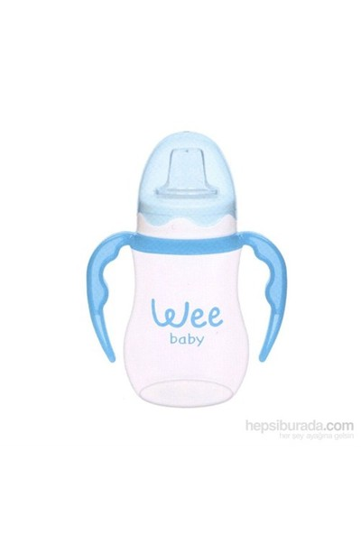 Wee Baby Baby Akıtmaz Kulplu PP Bardak 250ml - Mavi