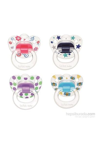 Wee Baby Baby Silikon Şeffaf Desenli Emzik Damaklı +18Ay
