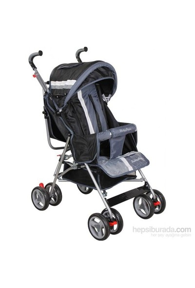 Baby Hope Sa7 Baston Bebek Arabası Gri Siyah