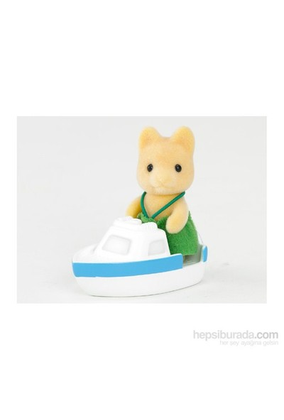 Sylvanian Families / Maple Dog Baby with Boat (ESF1485)