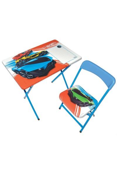 Furkan Hot Wheels Yazı Tahtalı Masa Sandalye Seti
