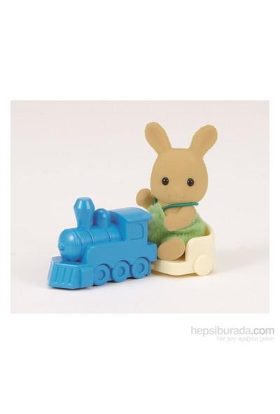 Sylvanian Families O Rabbit Baby W Train