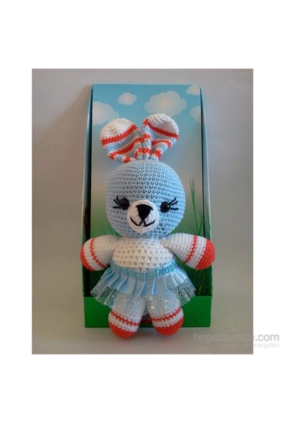 Damla Oyuncak Oyun Arkadaşım Mavi Surat Tavşan