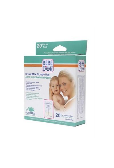 Bebedor Anne Sütü Saklama Poşeti 20'li