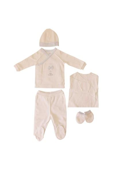 İdil Baby Prematüre Zıbın Takımı 6556 Beyaz