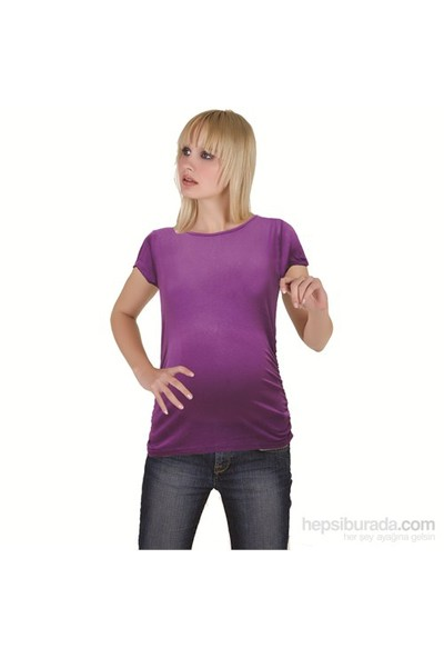 Elija Hamile Düz T-Shirt / Mor