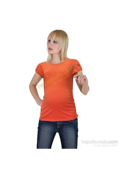 Elija Hamile Düz T-Shirt / Oranj