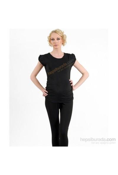 Elija Hamile Düz T-Shirt / Siyah