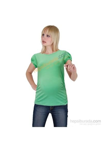 Elija Hamile Düz T-Shirt / Yeşil