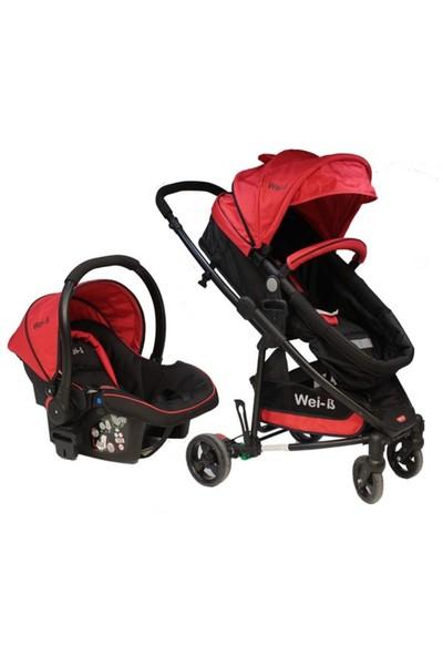 Wei - B Gloria Travel Sistem Bebek Arabası Kırmızı - Siyah