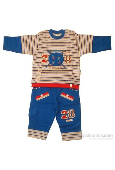 Tory Baby 4067 2Li Bebek Takımı Mavi 3-6 Ay (62-68 Cm)