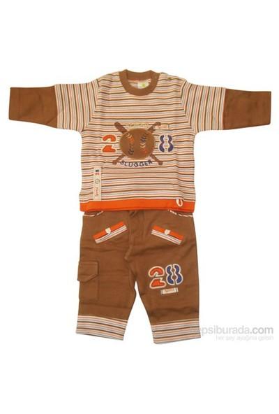 Tory Baby 4067 2Li Bebek Takımı Kahverengi 0-3 Ay (56-62 Cm)