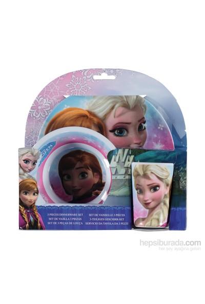 Disney Frozen Melamin 3'Lü Beslenme Seti