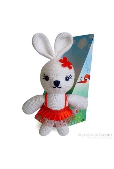 Damla Oyuncak Beyaz Tavşan