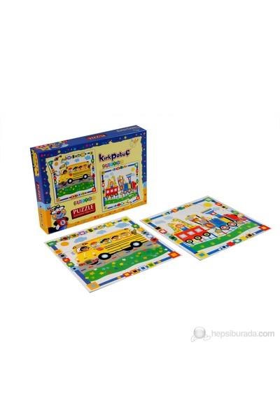 Kırkpabuc Taşıtlar 2 (6 ve 9 Parçalık Karton Puzzle)