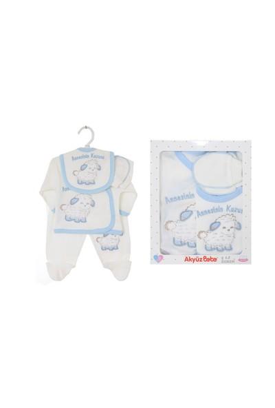 Akyüz Bebe Ana Kuzusu Beşli Set Mavi
