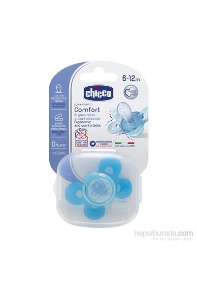 Chicco Physio Comfort Silikon Emzik Erkek 6-12 Ay Tekli