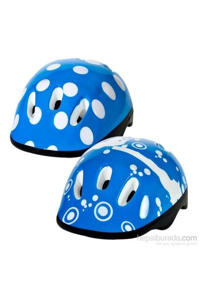 Paten Kaykay Bisiklet Koruyucu Kaskı Mavi