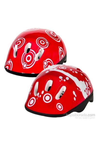 Paten Kaykay Bisiklet Koruyucu Kaskı Kırmızı