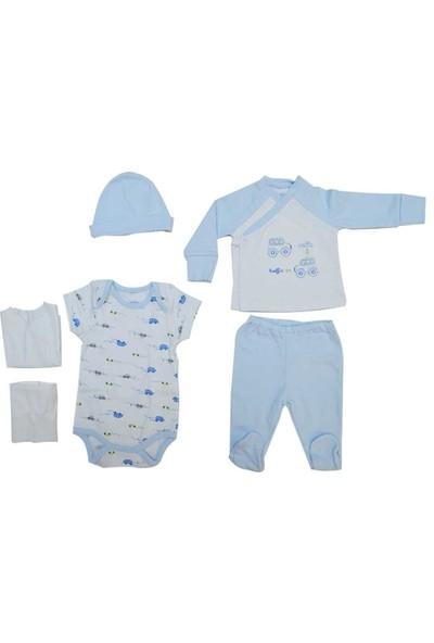 İdil Baby 7612 6'Lı Erkek Bebek Zıbın Takımı