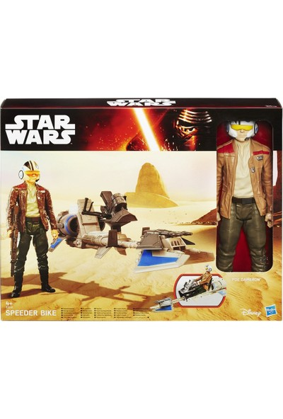 Star Wars Titan Hero Araç Ve Figür Speeder Bike Poe Dameron