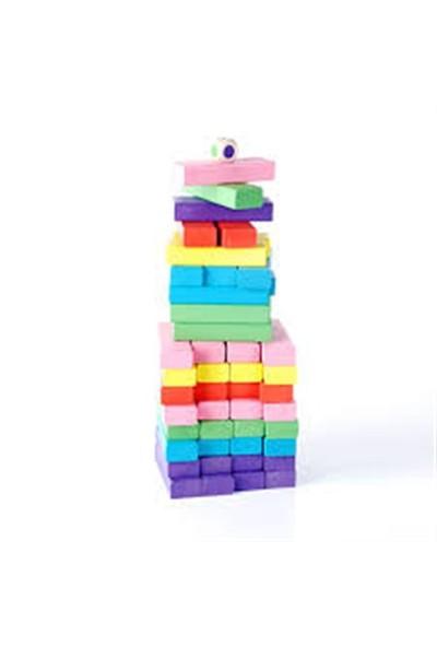 Engin Oyuncak Renkli Ahşap Jenga