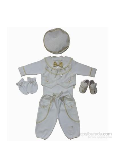 Tory Baby 1135 Erkek Mevlüt Takımı 6Lı Altın-Krem 3-6 Ay (62-68 Cm)