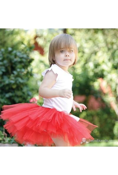 Baby Corner Bağlama Tütü Etek & Saç Bandı Kırmızı