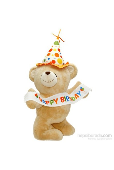 Neco Plush Happy Birthday Flamalı Peluş Ayı 55 cm