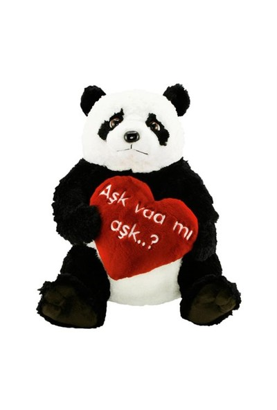 Neco Plush Panda Aşk Varmı Aşk Peluş 50 cm