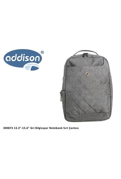 Addison 300873 13.3`-15.6` Gri Notebook Sırt Çantası