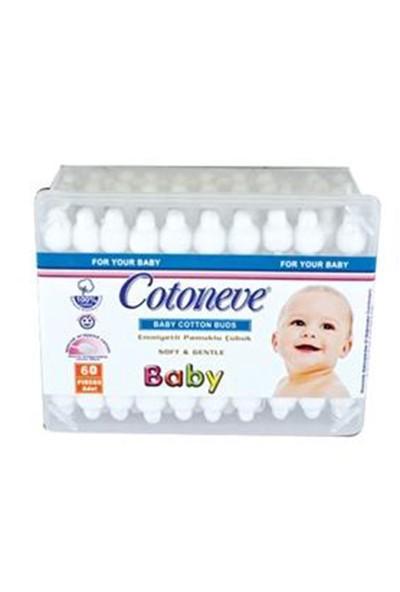 Cotoneve Baby Emniyetli Pamuklu Kulak Çubuğu 60 Ad