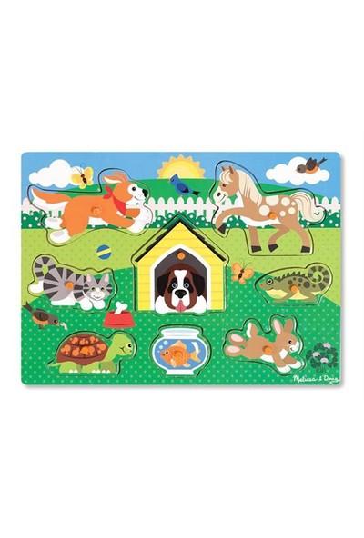 Melissa&Doug Ahşap Tutmalı Yapboz - Evcil Hayvanlar