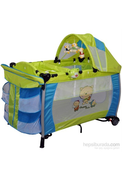 Holmer Kids Maxi Comfort Eurostyle Alüminyum Oyun Parkı / Yeşil-Mavi