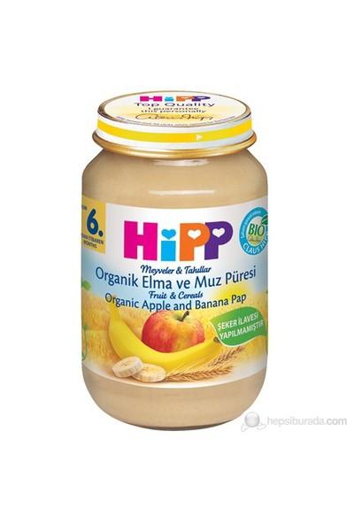 Hipp Organik Elma ve Muz Püreli Kavanoz Maması 190 gr