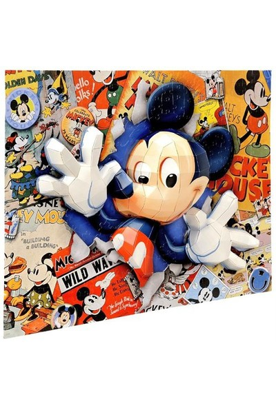 Mega Oyuncak Puzzles 200 Parça 3D Puzzle Breakthrough Mickey