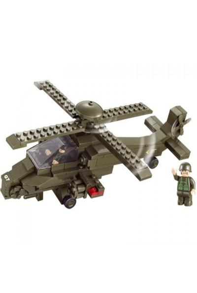 Sluban Yapboz Blok 199 Parça Askeri Helikopter