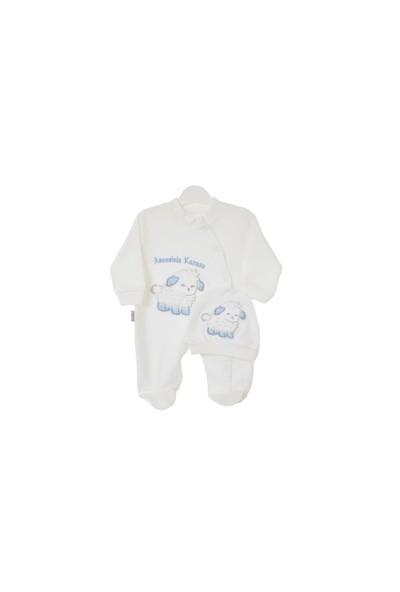Akyüz Bebe Ana Kuzusu Tulum Mavi 56 Cm