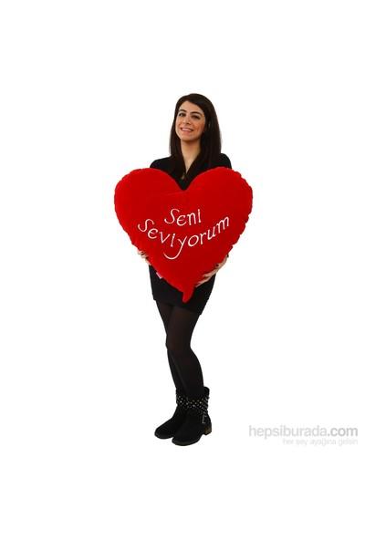Selay Kalp Yastık 50 Cm / Kırmızı