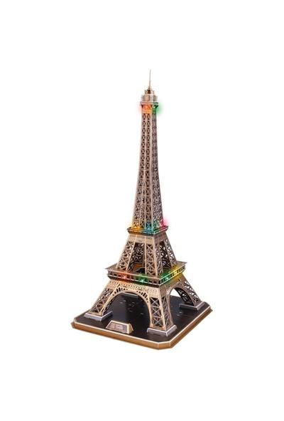Cubic Fun 3D Puzzle 82 Parça Eyfel Kulesi (Led Işıklı)