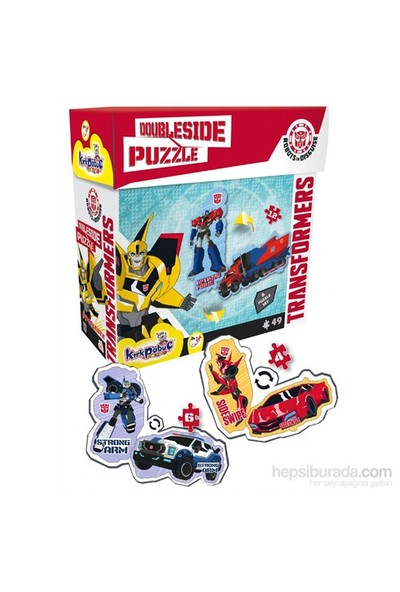 Kırkpabuç Transformes Doubleside 6'Lı Puzzle Set