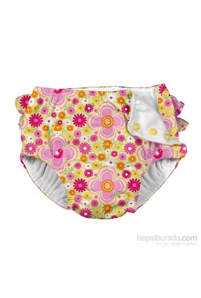 İ Play Upf 50+ Güneş Korumalı Sızdırmaz Çıtçıtlı Bebek Mayosu Sarı