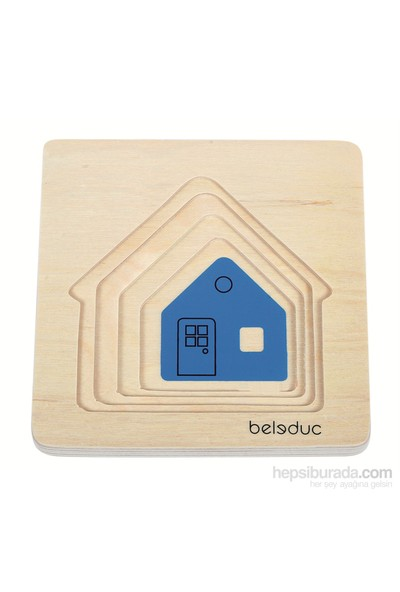 Beleduc Ev Katlı Puzzle 15X15 Cm